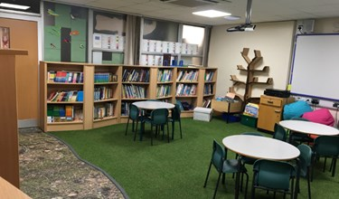 Kinnerley primary school forest themed library
