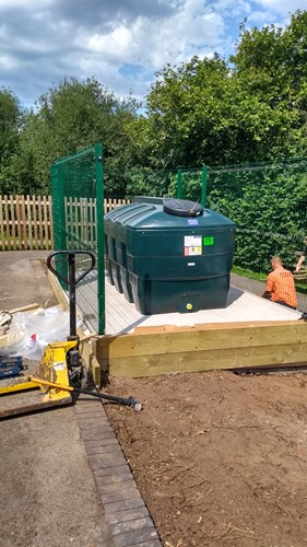 Brown Clee oil tank